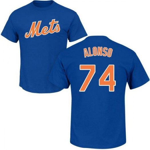 Peter Alonso New York Mets Men's Royal Roster Name & Number T-Shirt -