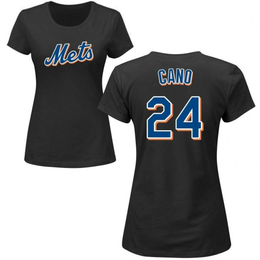 Robinson Cano New York Mets Women's Black Roster Name & Number T-Shirt -